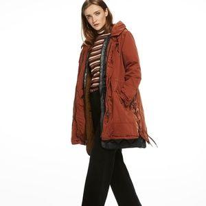 Scotch and soda tie layered parka jacket women XS